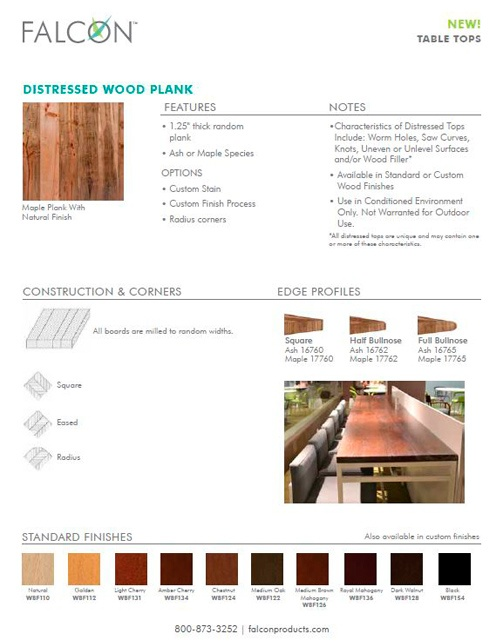 Distressed Wood Tops
