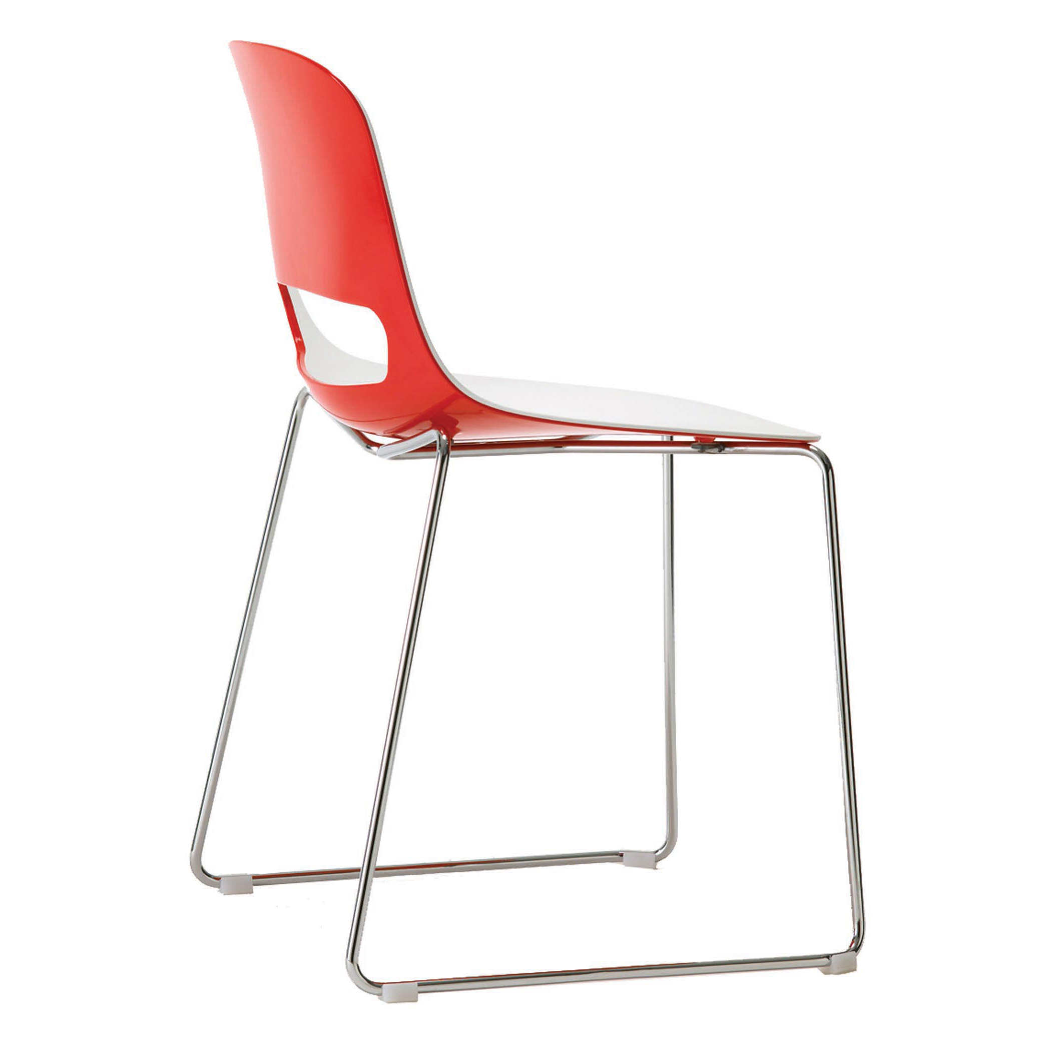metal chairs lucky sled base chair