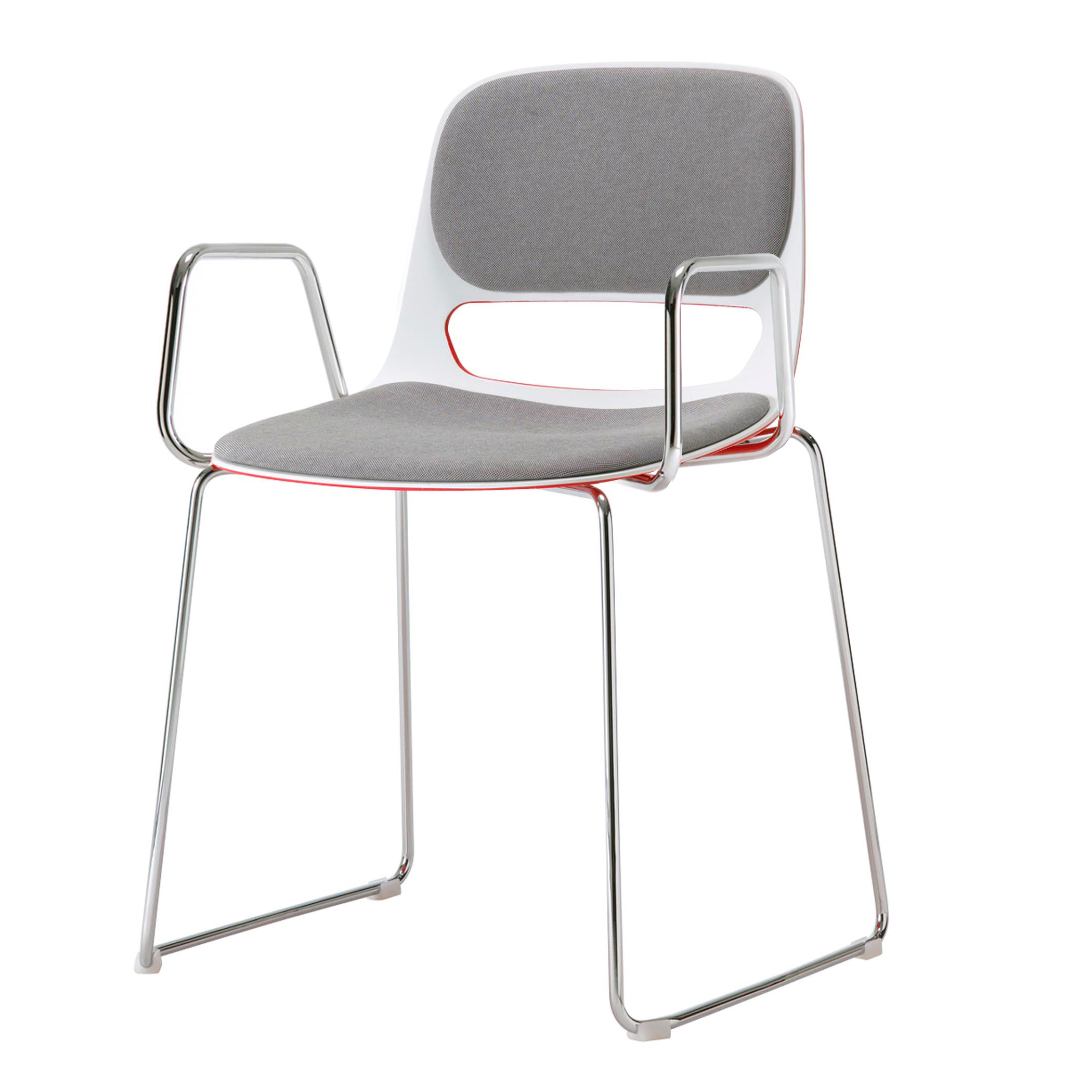 metal chairs lucky sled base arm chair