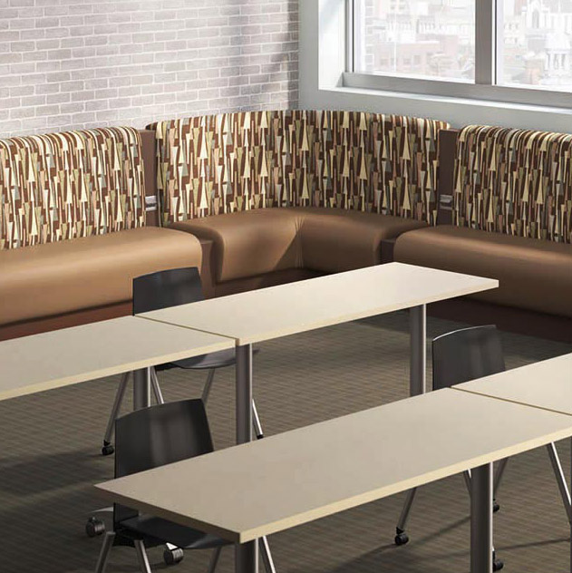 Syntech Tables with Wall Bench
