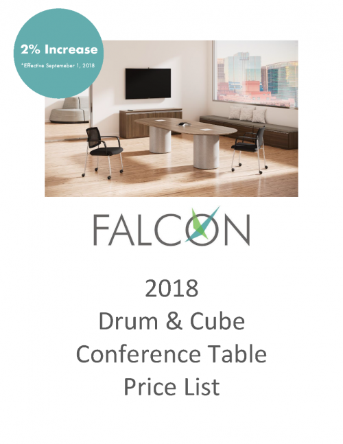 2018 Falcon Drum & Cube Conference Table Pricing