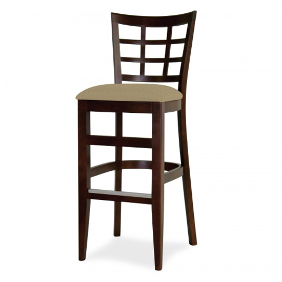 7045-2 Wood Barstool