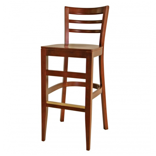 7048-2 Wood Barstool
