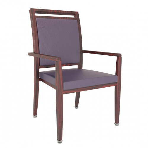 9202-1 Aluminum Stacking Arm Chair