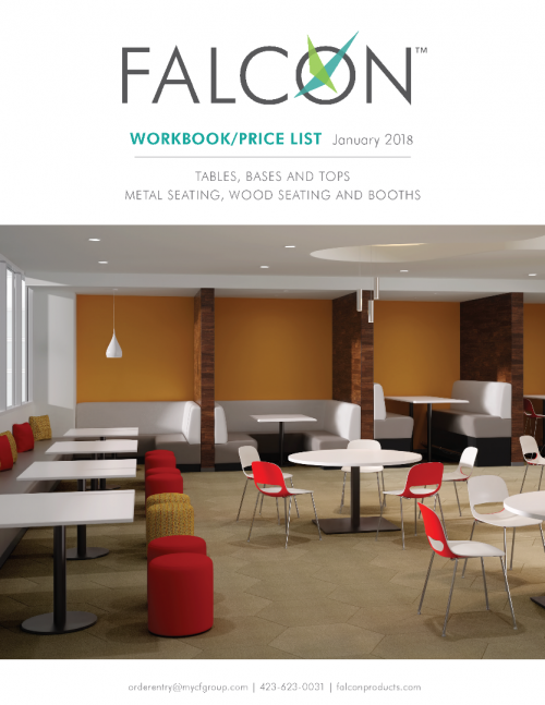 2018 Falcon Tables & Seating Price List